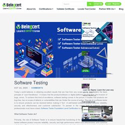 Software Testing Scope of Software Testing Certification - Beingcert