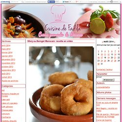 Sfenj ou Beinget Marocain: recette en vidéo