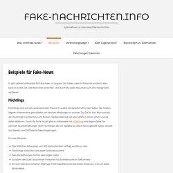 Beispiele für Fake-News