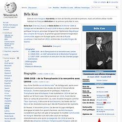 Béla Kun agent guepeou pour la HONGRIE