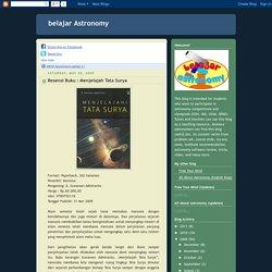 belajar Astronomy May 2009