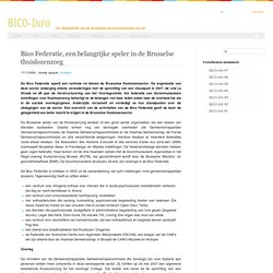 Bico Federatie, speler in de Brusselse thuislozenzorg