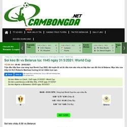 Soi kèo Bỉ vs Belarus lúc 1h45 ngày 31/3/2021: World Cup