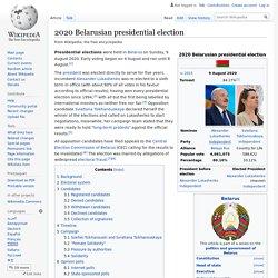 2020 Belarusian presidential election