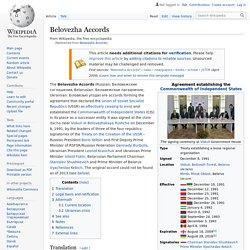 Belavezha Accords - End of the Soviet Union