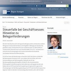 Steuerfalle bei Geschäftsessen: Hinweise zu Beleganforderungen - IHK Region Stuttgart