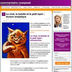 Le chat, la belette et le petit lapin : lecture analytique
