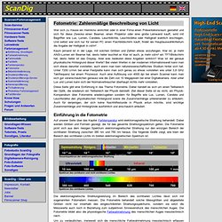 Fotometrie: Lichtstrom Lichtstärke Candela Beleuchtungsstärke Lux, ANSI-Lumen Beamer Projektor, Leuchtdichte