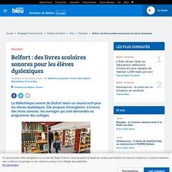 Belfort : des livres scolaires sonores pour les élèves dyslexiques