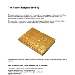 Secret Belgian Binding Instructions