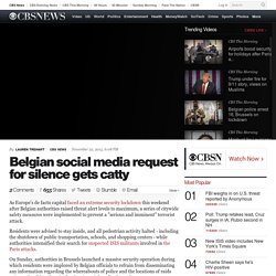 Belgian social media request for silence gets catty