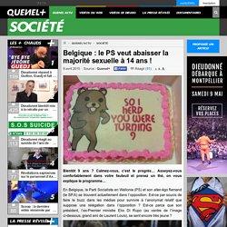 Belgique : le PS veut abaisser la majorité sexuelle à 14 ans