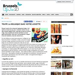 Toute la Belgique dans votre assiette