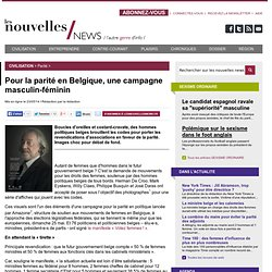 Pour la parité en Belgique, une campagne masculin-féminin