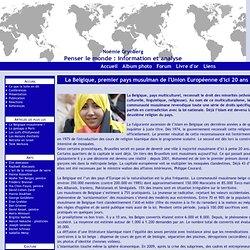 La Belgique, premier pays musulman de l'Union Européenne d'ici 20 ans ? - Noémie Grynberg