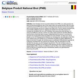 Belgique Produit National Brut (PNB) - Économie