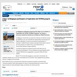 la Belgique participera à l'opération de l'OTAN jusqu'à la fin