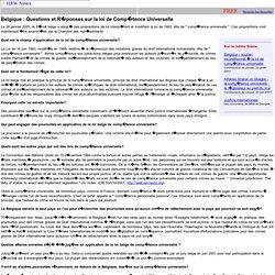 Belgique : Questions et Réponses sur la loi de Compétence Universelle