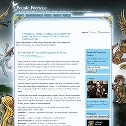 Peuple féerique - Le petit monde des fées, elfes, lutins, gnomes et dragons