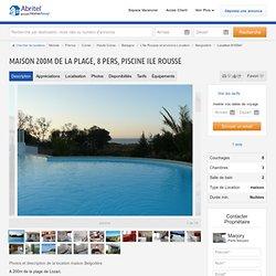 Maison Belgodère - maison 200m de la plage, 8 pers, piscine Ile rousse - 910541