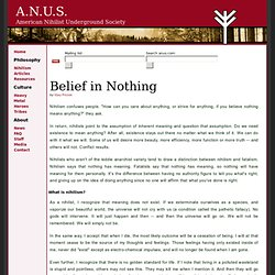 Belief in Nothing