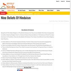 Hinduism Beliefs - Myselfhindu