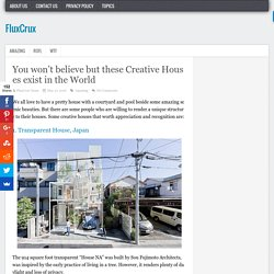 You won't believe but these Creative Houses exist in the World - FluxCrux