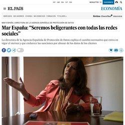"""Mar España: """"Seremos beligerantes con todas las redes sociales"""""""