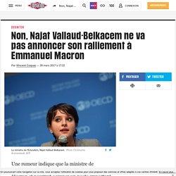 Non, Najat Vallaud-Belkacem ne va pas annoncer son ralliement à Emmanuel Macron