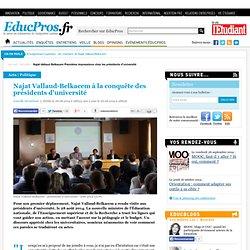 Najat Vallaud-Belkacem à la conquête des présidents d'université