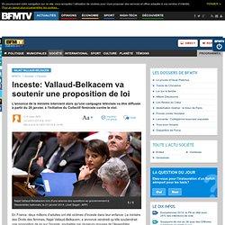Inceste: Vallaud-Belkacem va soutenir une proposition de loi