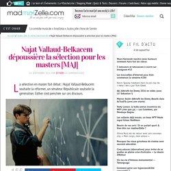 Najat Vallaud-Belkacem réforme les masters universitaires