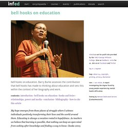 bell hooks on education
