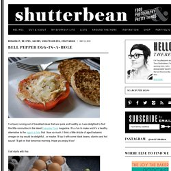 Bell Pepper Egg-in-a-hole › shutterbean