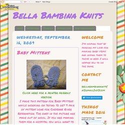 Bella Bambina Knits: Baby Mittens