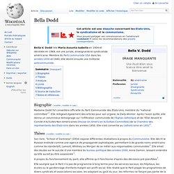USA Bella Dodd leader communiste
