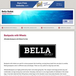 Bella Outlet - Backpacks with Wheels