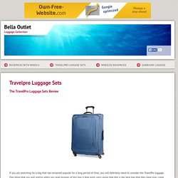 Bella Outlet - Travelpro Luggage Sets