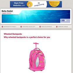 Bella Outlet - Wheeled Backpacks