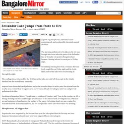Bellandur Lake jumps from froth to fire