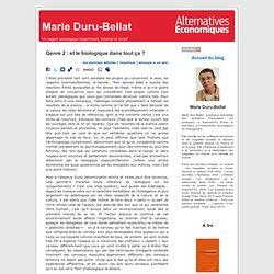 Marie Duru-Bellat » Blog Archive » Genre 2 : et le biologique dans tout ça ?