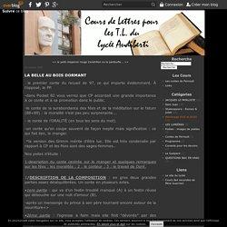 LA BELLE AU BOIS DORMANT - Cours de Lettres
