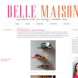 belle maison: DIY Bookshelves...made with Books!