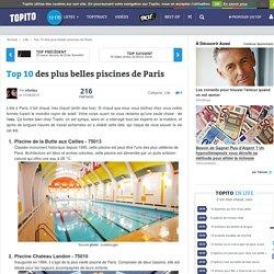 Top 10 des plus belles et meilleures piscines de Paris