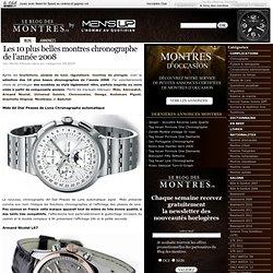 Les 10 plus belles montres chronographe de l'année 2008