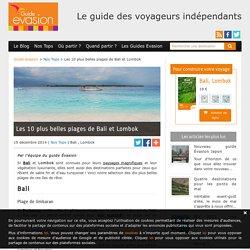 Les 10 plus belles plages de Bali et Lombok