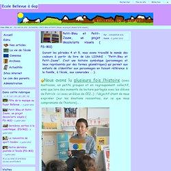 Ecole Bellevue à Gap - Petit-Bleu et Petit-Jaune, un projet dessin/arts visuels ( PS-MS)