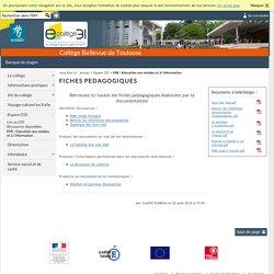 Bellevue de Toulouse - FICHES PEDAGOGIQUES