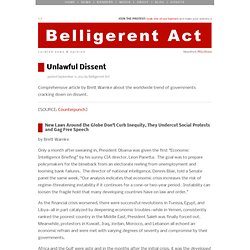 Belligerent Act | Unlawful Dissent