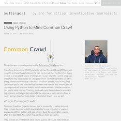 Using Python to Mine Common Crawl